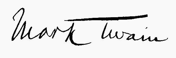 Марк Твен подпись
