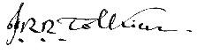 Толкиен подпись