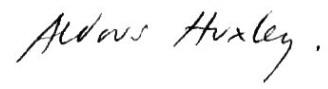 Хаксли подпись