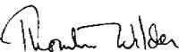 Уайлдер подпись