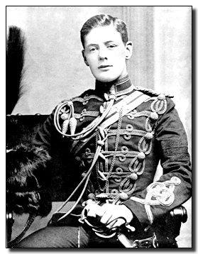 Черчилль в форме субалтерна 4 гусарского полка