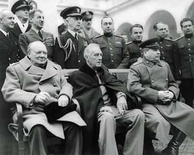 Черчиллль, Рузвельт, Сталин. Ялта, 1945